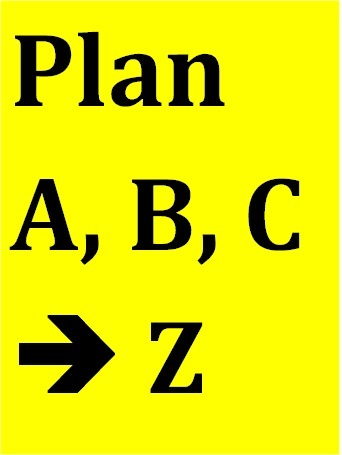Plan A, B, C – alphabet