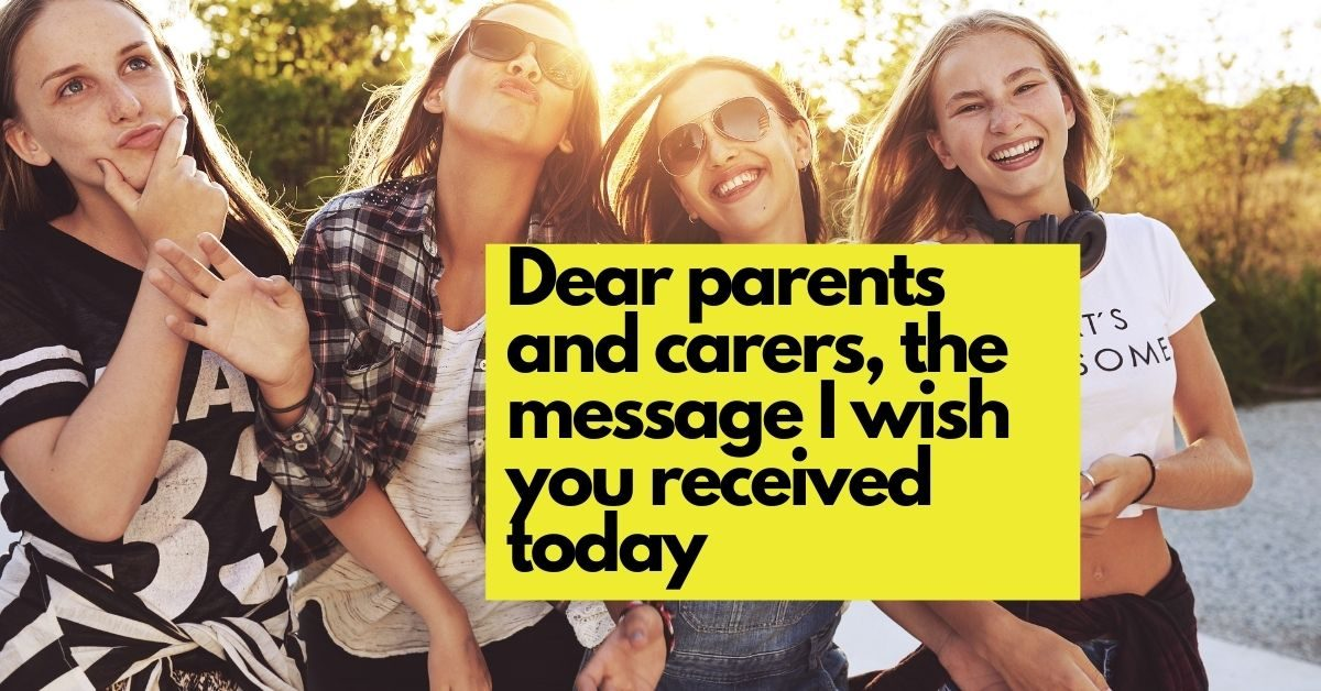 Dear Parents and Carers, the message I wish you received today